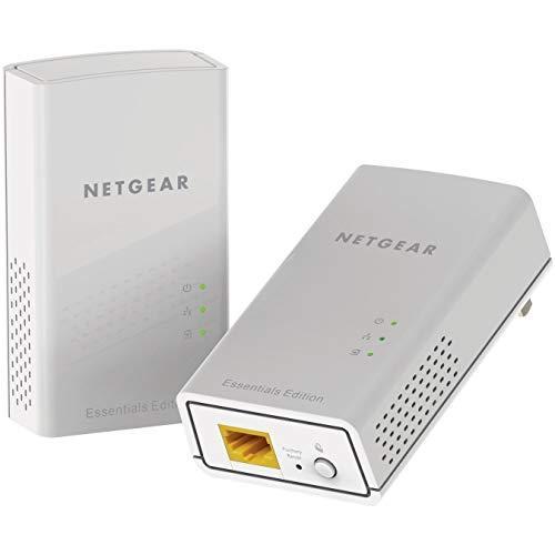 Netgear PL1000-100PES - Kit de adaptadores PLC Powerline Gigabit (1 Puerto Ethernet℗ Gigabit, AC 1000 Mbps), Blanco