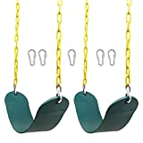 Juegoal Heavy Duty Swings Seats Playground Swing Set Accessories Replacement with 66' Plastic Coated Chain and Snap Hooks, Great for Kids Adults Playground, Backyard and Playroom, Easy Install, 2 Pack