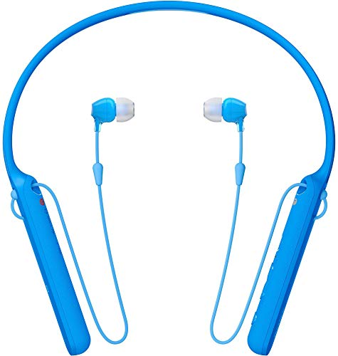 Sony WI-C400 Wireless in-Ear Neck Band Headphones with 20 hrs Battery Life, Light Weight, Bluetooth Headset with mic for Phone Calls, Vibration Notification, Work from Home, Tangle Free Cable (Blue)