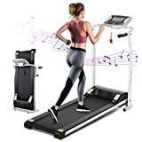 CASULO Treadmills,Electric Folding Treadmill for Home with Pulse Grip,LCD Monitor,Fitness Motorized Exercise Running Machine,12 Preset Training Mode, Home Office Treadmill [US Stock]