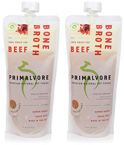 Primalvore Organic Bone Broth Food Topper for Dogs...