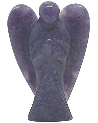 Nelson Creations, LLC Hand-Carved 2 Inch Lepidolite Guardian...