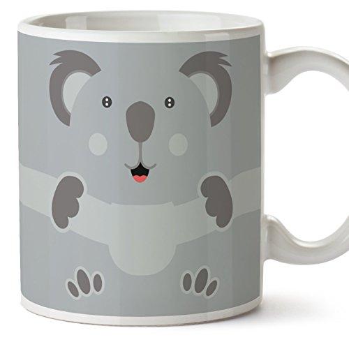 MUGFFINS Koala Tazas Originales de Desayuno - Animales Graciosos Ideas para Regalos - Cerámica 350 ml