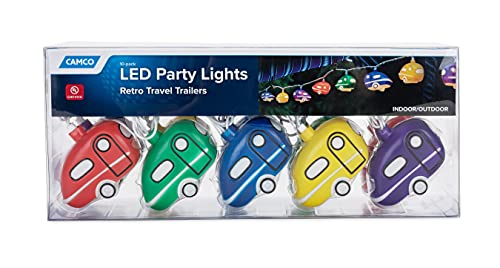 Camco Hanging Festive Party Glow Lights- Perfect for RV Awnings...