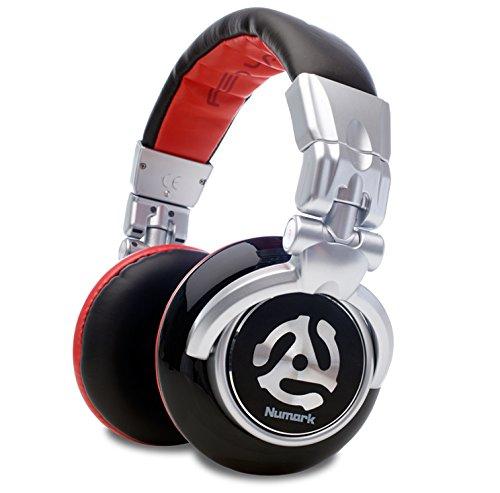 Numark Red Wave - Cuffie per DJ Full Range, Leggere, Pieghevoli, di Alta Qualit con Driver da 50 MM, Cavo Scollegabile, Adattatore da 1/8 di Pollice e Custodia Inclusa