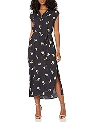 LOVELY WAVES DRESS: This timeless, midi length dress is woven dress is a perfect fit for all seasons. Perfect for layering under your favorite cardigan or jacket, or the ultimate spring dress on it's own FIT: Features a flattering, removeable self be...