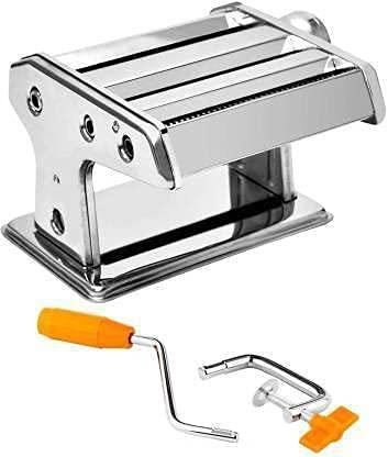 SB CREATION Stainless Steel Noodles Cutter Roller, Pasta Maker Machine Noodle Making Machine,...