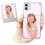 Coverpersonalizzate.it Coque Personnalisable pour Apple iPhone 11 avec ta Photo, Image ou Inscription. Étui Souple en TPU Gel Transparent. Impression de qualité supérieure