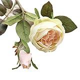 hlhn flores artificiales falsos Royal Rosas Flores decoracin Bonsai para oficina hogar escritorio cuadros jardn boda ramos al aire libre fiesta