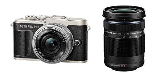 OLYMPUS ミラーレス一眼カメラ PEN E-PL9 ダブルズームキット ブラック