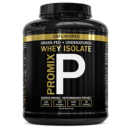 Native Whey Protein Isolate Powder Concentrate: PROMIX Standard 100 Percent All Natural Grass Fed & Undenatured Best Optimum Fitness Nutrition Shakes & Energy Smoothie Bowls: Unflavored 5lb
