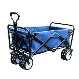 Gardzen Folding Collapsible Utility Wagon Cart - Blue