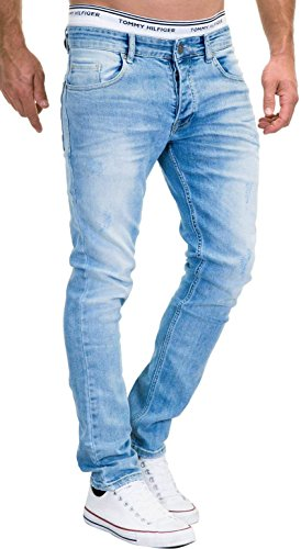 MERISH Jeans Herren Slim Fit Stretch Hose Jeanshose Denim 9148 (34-32,...