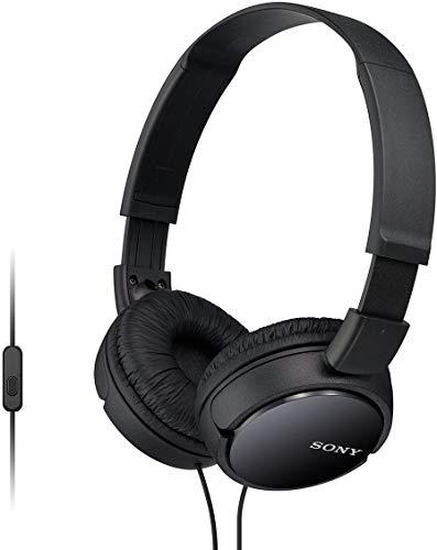 Sony MDR-Zx110Apb - Auriculares para Smartphone (Diadema, Mando de Control, Micrófono, 1000 Mw, Android y Iphone), Negro, 20 X 15 X 3,5 cm