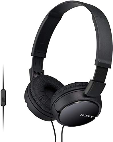Sony MDR-ZX110AP - Cuffie on-ear con microfono, Nero