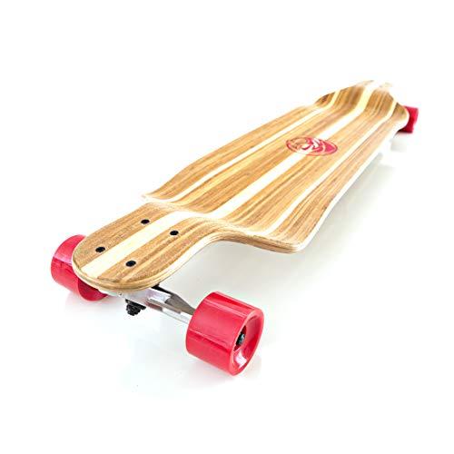 White Wave Bamboo Longboard Skateboard (Rocket)