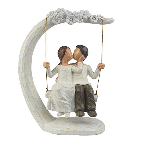 Romantic Couple Figurines in Love , 9Inch Hand Painted Sweet...
