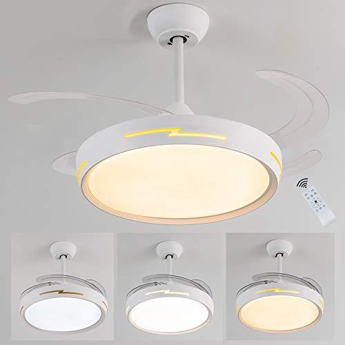Ventilatore da soffitto,lampadari con ventilatore a soffitto,LED Dimmerabile ventilatore soffitto...