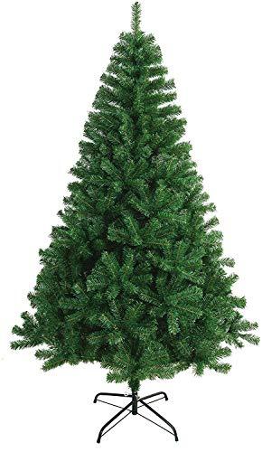 Árbol de Navidad Artificial Extra Relleno Abeto Artificial 150-240cm C/Soporte Metálico (Verde, 150cm 390Tips)