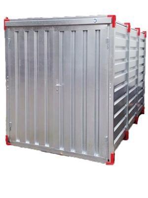 Baucontainer Garage Container Lagercontainer Gerätecontainer Werkstatt Container Materialcontainer Blechcontainer 4 m Außenmaße Länge x Breite x Höhe: 4000 x 2200 x 2200 mm