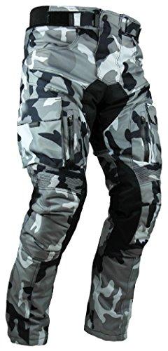 HEYBERRY Sportliche Motorrad Hose Motorradhose Camouflage Weiß Gr. L