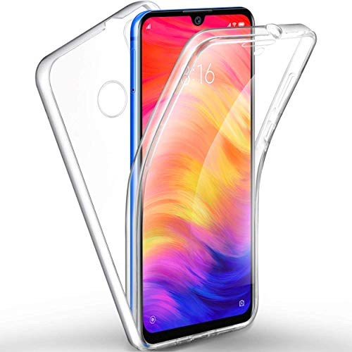 NewTop Cover Compatibile per Xiaomi Redmi Note 7/7 PRO, Custodia Crystal Case TPU Silicone Gel PC Protezione 360° Fronte Retro Full Body