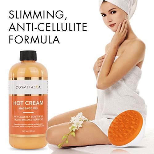 Anti-Cellulite Massage Oil, Gel & Mitt - 100% Natural Cellulite Treatment with Hot Cream Massage Gel, Oil & Massager - Penetrates Skin to Break Down Fat Tissue - Firm, Tone, Tighten & Moisturize Skin 7