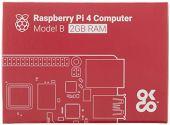 Raspberry Pi 4B, 2 GB RAM, WiFi & BT