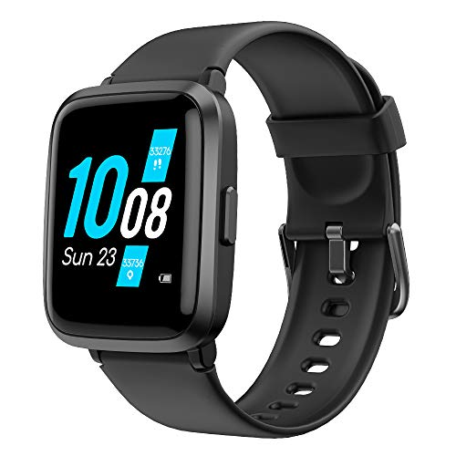 YAMAY Smart Watch 2020 Ver. Watches for Men Women Fitness Tracker Blood Pressure Monitor Blood Oxygen Meter Heart Rate Monitor IP68 Waterproof, Smartwatch Compatible with iPhone Samsung Android Phones