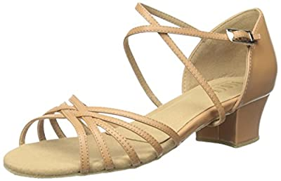 Soft and strong leather upper with covered leather heel Light and functional practice shoe designed for the social dancer, students and teaching professionals Low wide heel offers stability and also makes this a great shoe for dance styles like swing...