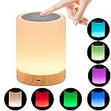 omitium Veilleuse LED, Lampe de Chevet avec Contrôle Tactile et USB...