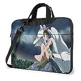 15.6″Durable Hombro Mensajero Bolsa maletín PC La Princesa Mononoke Moda Impermeable Ordenador Portátil/portátil/Tablets