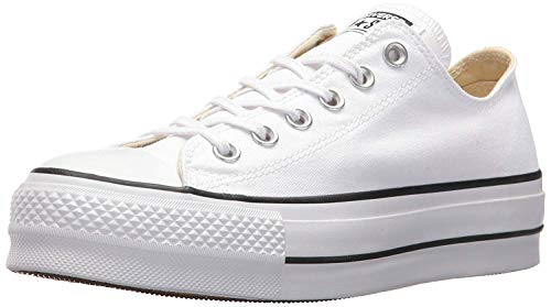 Converse Chuck Taylor CTAS Lift Ox Canvas, Zapatillas Mujer, Blanco (White/Black/White 102), 36 EU