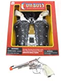 Big Game Toys~Double Holster Stagecoach Set Cowboy Pistol Side Load Toy Cap Gun