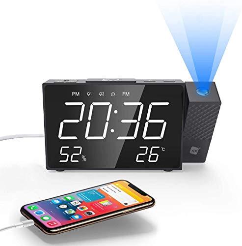 NK Radio Despertador Digital - Inteligente, FM Radio, Medidor...