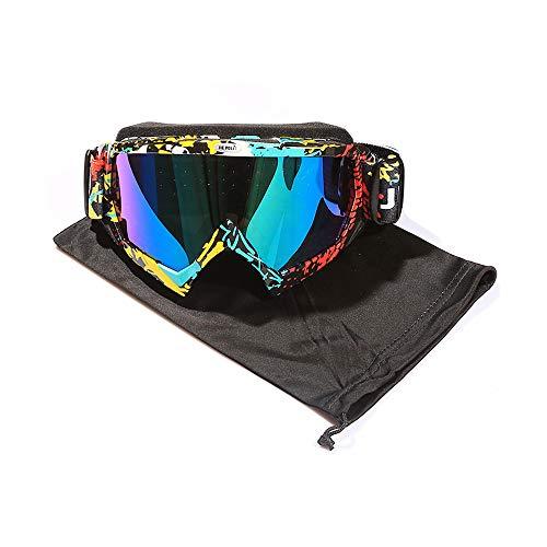 JIEPOLLY Motorradbrillen Anti Fog UV Motorrad Brille Motocross Dirtbike Off-Road MX Goggle Schutzbrille für Brillenträger