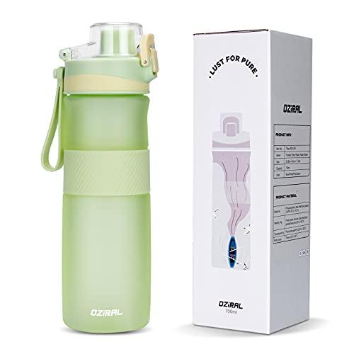 Oziral Borraccia Sportiva 700ML, Tritan Borraccia Palestra, BPA-Free Bottiglia Acqua Adatta per Outdoor, Fitness, Scuola, Bicicletta, Uso Domestico (Verde)