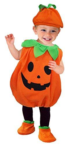 GEMVIE Baby Infant Halloween Pumpkin Costume for Boys Girls Carnival Festivel Fancy Dress 12-24 months