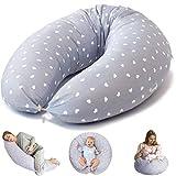 Bamibi Multifunctional Pregnancy Pillow & Breastfeeding Pillow + Inner Cushion. Cover 100% Cotton, Filling 100% Polyester, Baby Nest, Nursing Pillow, Maternity Pillow