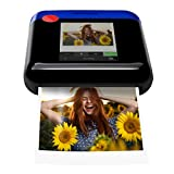 Polaroid WiFi Wireless 3x4 Portable Mobile Photo Printer (Blue) with LCD Touch Screen, Compatible w/ iOS & Android.