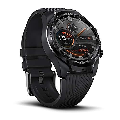 TicWatch Pro 4G / LTE Smartwatch PRO, 1G RAM 4GB Memoria, Monitoreo del sueño, Ejercicio y estado físico, Relojes deportivos, GPS integrado, NFC Google Pay