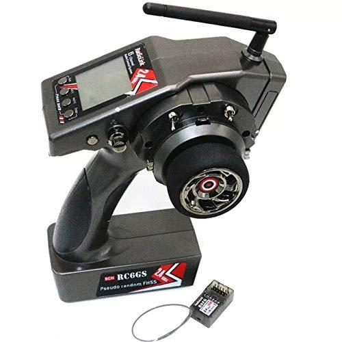 DishyKooker Trasmettitore RadioLink RC6GS 2.4G 6CH Car Controller + R6FG Gyro Ricevitore Interno per RC Car Boat Radiocomandati e telecomandati Veicoli Velivoli Droni