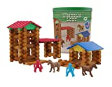 Lincoln Logs Centennial Edition Tin Amazon Exclusive-150+ Pieces-Real Wood-Ages 3+-Best Retro Building Gift Set for Boys/Girls-Creative Construction Engineering-Top Blocks Kit-Preschool Education Toy (Toy)