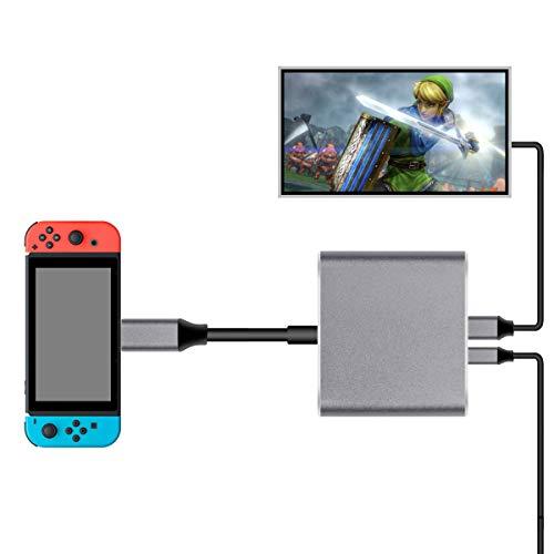 Nintendo Switch Type-C to HDMI変換アダプタ 3in1 ニンテンドー スイッチドック 代わり品 熱対策 映像変換...