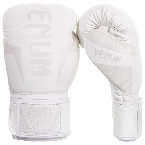 Venum Elite Boxing Gloves - White/White - 16oz, 16 oz