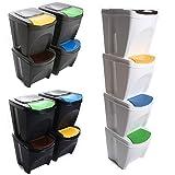 Mülleimer Poubelle de tri des déchets 100l – 4 x 25l, couvercle de...
