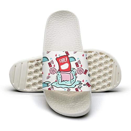 Men's Women Home Slippers Taco Fast Food Fashion Shower Slide Sandal Popcorn Sole Bath Slippers