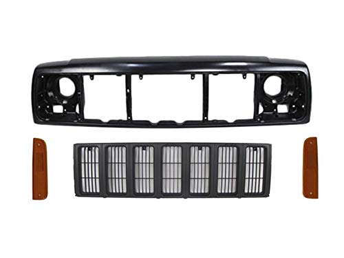 Bundle For 97-01 CHEROKEE FRONT HEADER MOUNTING PANEL GRILLE PRIMED SIDE MARKER LIGHT 4PCS CH2550118 CH2551118 CH1220115 CH1200208