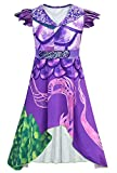 snow flying Mal Costume for Girls Kids Halloween Cosplay Purple