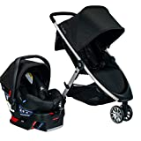 Britax B-Lively Travel System with B-Safe 35 Infant Car Seat, RavenOne Hand Fold, XL Storage, Ventilated Canopy, Easy to Maneuver